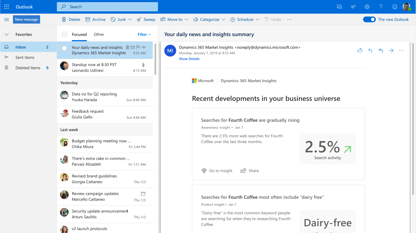 With Dynamics 365 Marketing you get daily insights in your marketing activities via e-mail